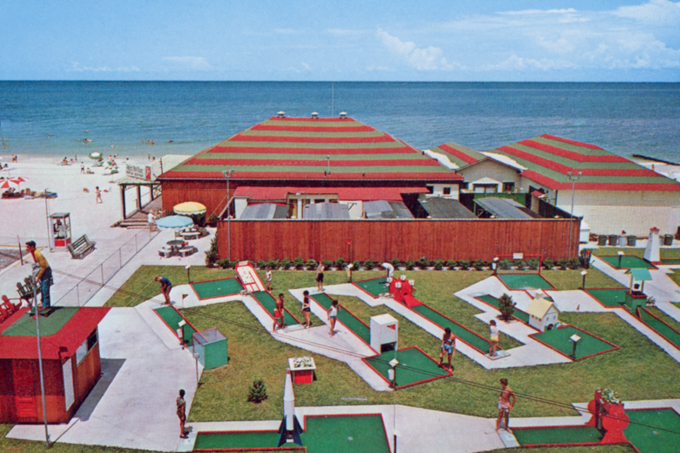 View of the Palm Pavilion's Former Miniature Golf Course