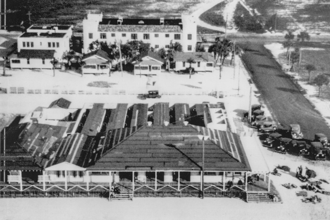 Aerial View of the Palm Pavilion with Locker Rooms