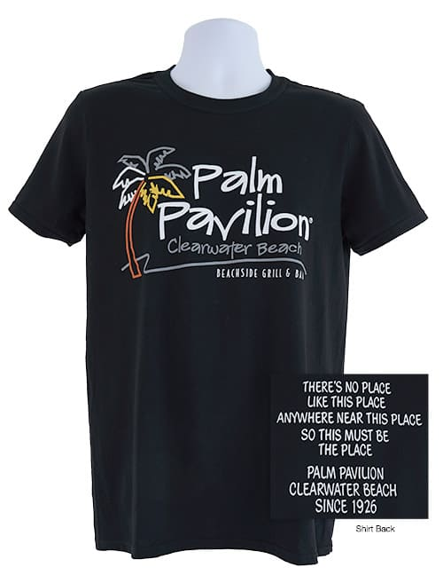 Palm Pavilion Signature Tee Shirt Black