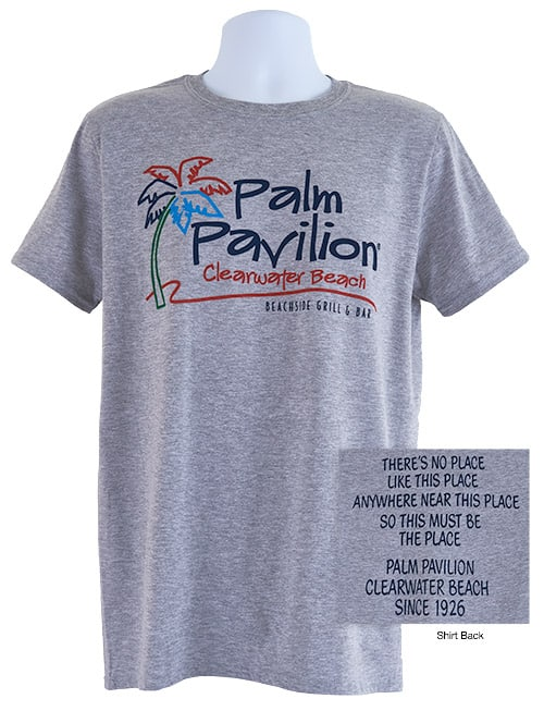 Palm Pavilion Signature Tee Shirt Gray Heather