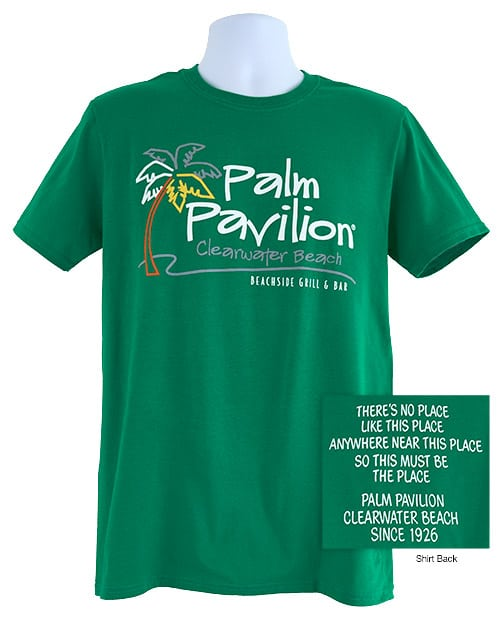 Palm Pavilion Signature Tee Shirt Kelly Green