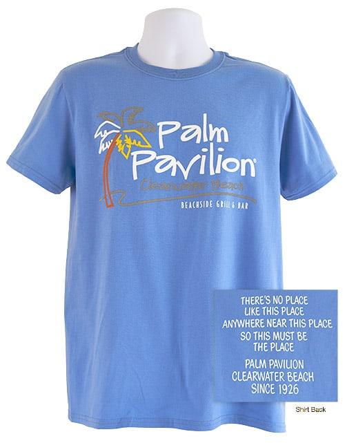 Palm Pavilion Signature Tee Shirt Lt Blue