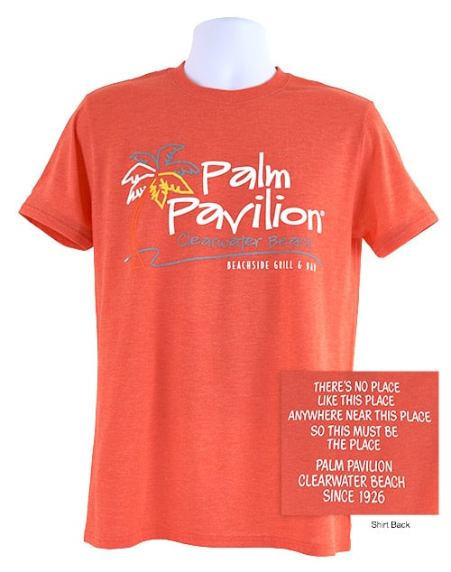Palm Pavilion Signature Tee Shirt Orange
