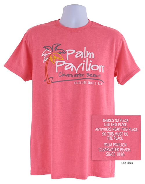 Palm Pavilion Signature Tee Shirt Pink