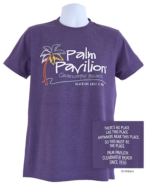 Palm Pavilion Signature Tee Shirt Purple Heather