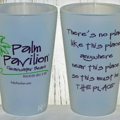 Palm Pavilion SiliPint Glasses
