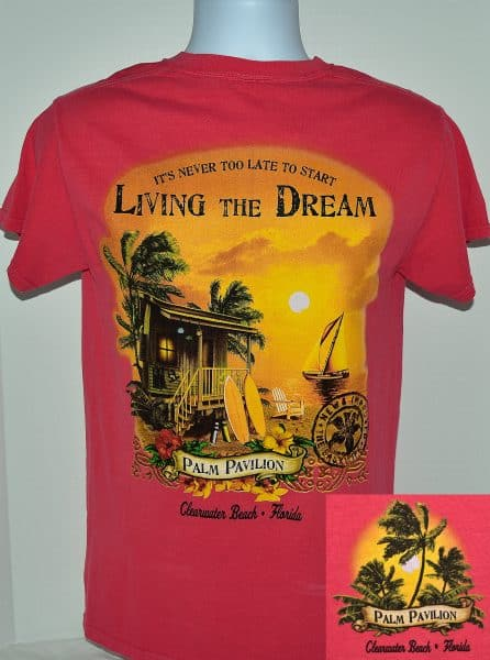 Living the Dream Full Tee Shirt Papaya
